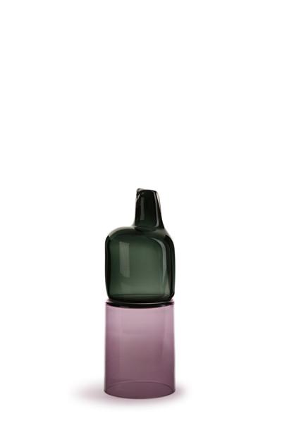 smoke/hyacinth 14″H x 4 3/4″Dia (36x12cm)
