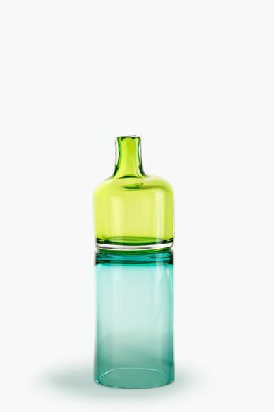 olive/turquoise 18″H x 5 1/2″Dia (46x14cm)