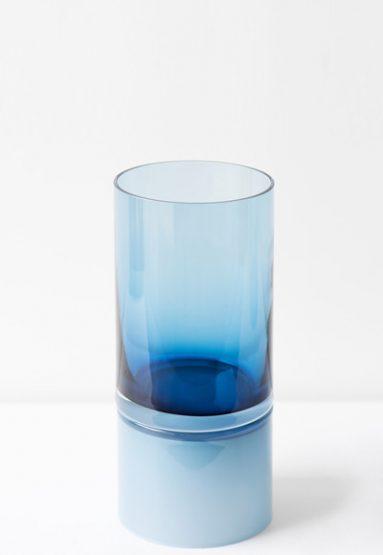 blue palette 15″H x 6.5″Dia (38x17cm)