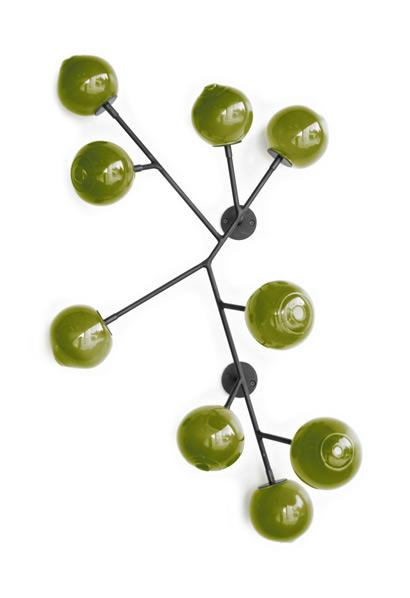 pea green 34″H x 24″W x 5″D (86x61x13cm)