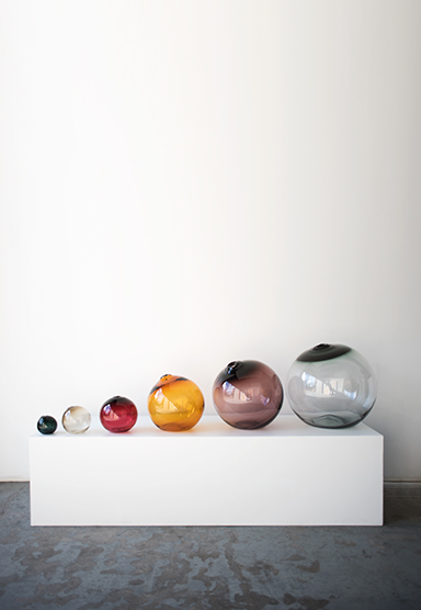 from left: smoke/4″(10cm), olivin/6″(15cm), red/8″(20cm), amber/12″(30cm), plum/16″(41cm), smoke/20″(51cm)