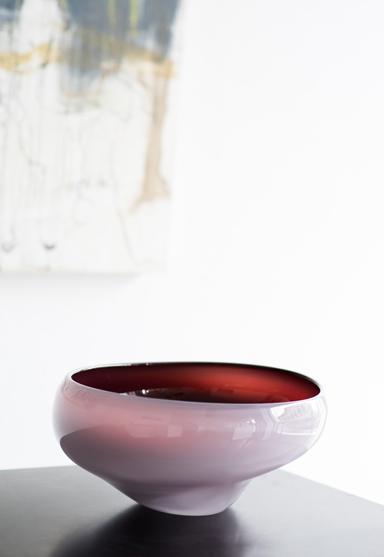 """high bowl/pink 10""""Dia x 5.5""""H (25x14cm)"""