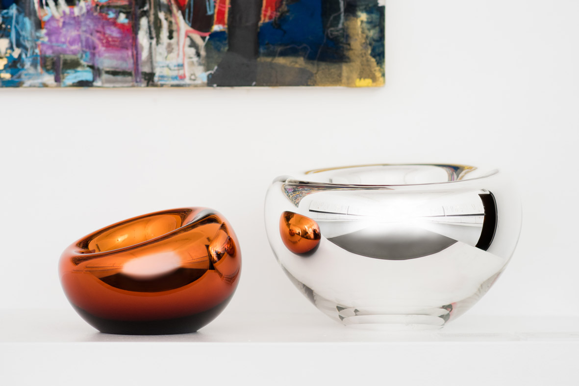 from left: small copper and medium silver
