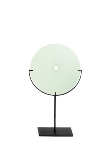small/linden green 21″H x 12″W (53x30cm) shown w/ dark oxidized steel stand