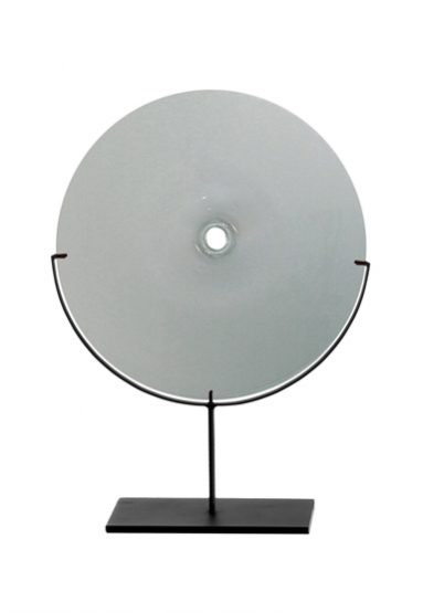 medium/gray 24″H x 18″W (61x46cm) shown w/ dark oxidized steel stand
