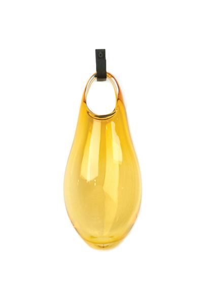 amber 17″H x 8″W x 4″D (43x20x10cm) shown w/ dark oxidized hook