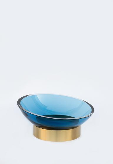 large/steel blue 16″Dia x 6″H (42x16cm)