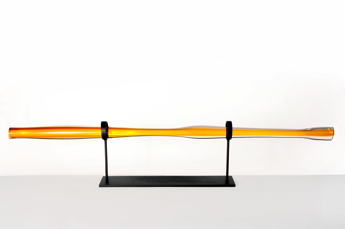 amber w/ dark oxidized stand 10″H x 49″ W (25x124cm)